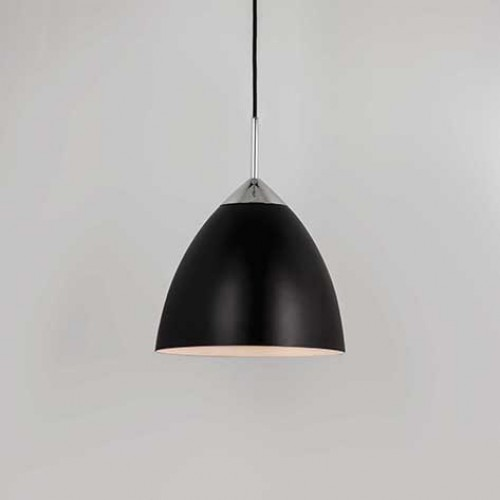 Pendant Light Suitable For Bathroom : Black finish uses a w e lamp ip rated suitable