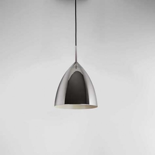 Pendant Light Suitable For Bathroom : Polished chrome finish pendant dia mm shade only