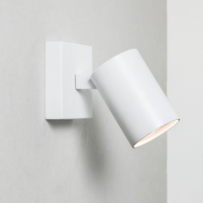 Single Spotlight White Finish Uses A 50w Gu10 Lamp Ip20