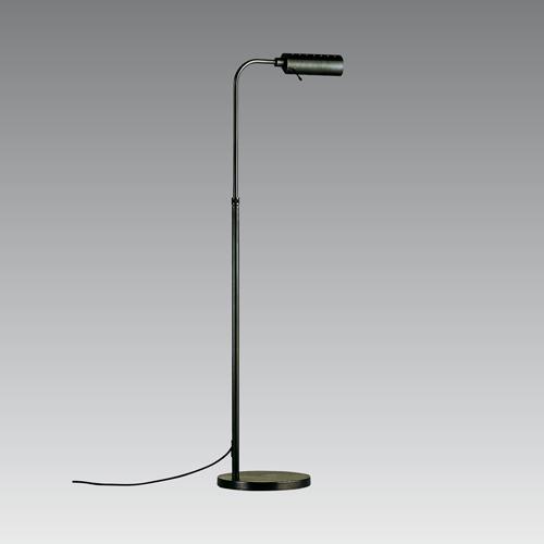 Bronze adjustable height floor reading lamp with dimmer for Floor reading lamp with dimmer