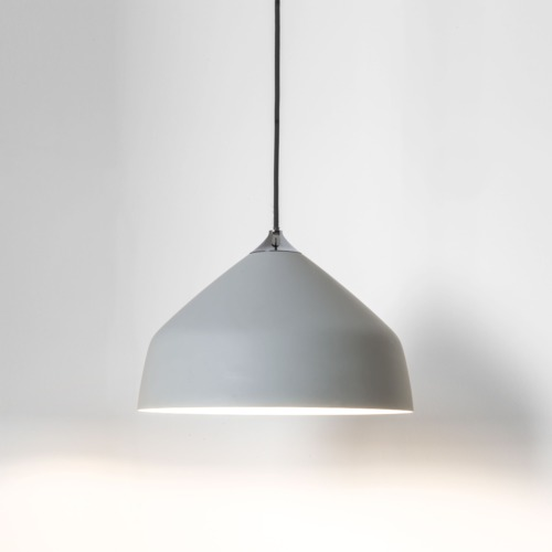 Light Grey Finish. Uses A 42w E27 Lamp. IP20 Rated